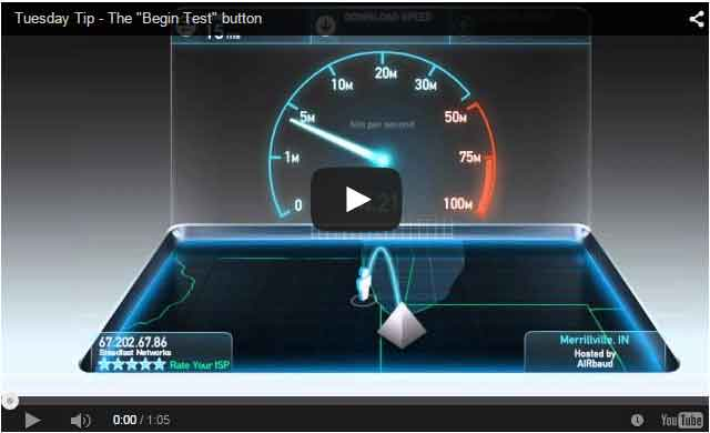How the Begin Test button works